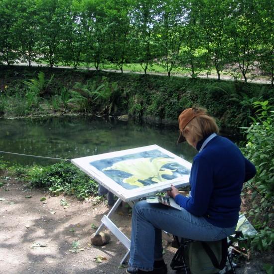 II Jornadas de pintura y naturaleza en el Jardín Botánico Atlántico de Gijón